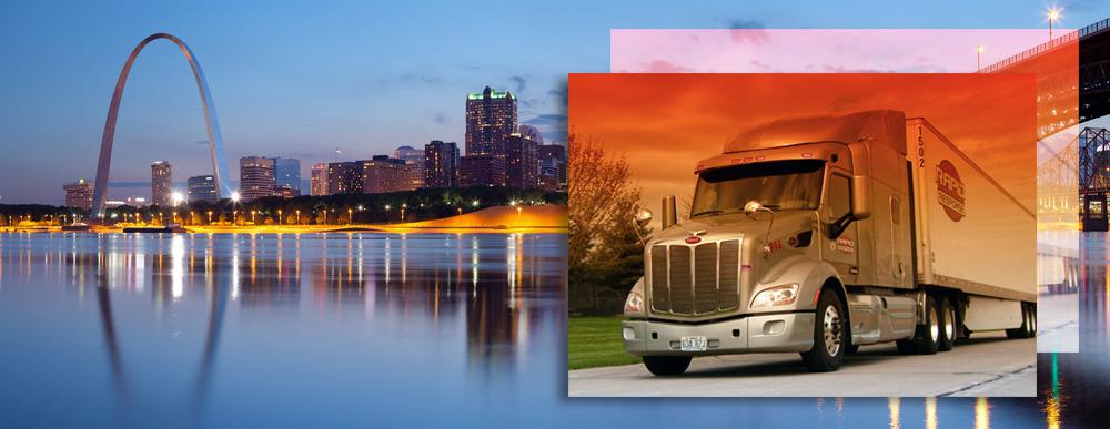 Rapid Response Truck in St. Louis, MO Skyline